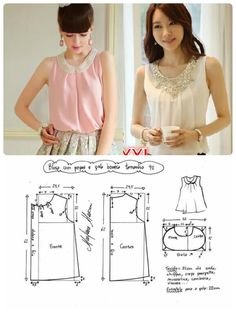 51 Ideas Sewing Patterns Free Clothes Women Tank Tops For 2019 Dress Sewing Patterns, Blouse Patterns, Sewing Patterns Free, Clothing Patterns, Free Clothes, Sewing Clothes, Diy Clothes, Clothes For Women, Top Pattern
