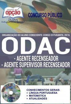 Apostila - AGENTE RECENSEADOR - Organização do Aluno Consciente (ODAC)