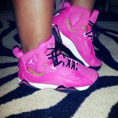Jordan true flight #pink #jordans