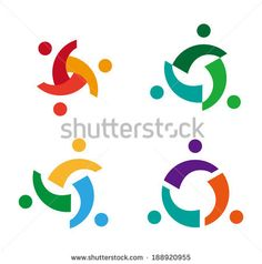 Abstract people icon.