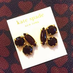 "NWT kate spade cluster studs marsala ❗️️️️️Reduced from $40❗️New with tag authentic kate spade ""desert stone"" cluster stud earrings. Gorgeous marsala/oxblood/garnet color with 12k gold plate. Post back style for pierced ears. Approx .75""W x 1""L. ❌No trades❌Price firm unless bundled. kate spade Jewelry"