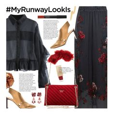 """""""What's YOUR Runway Look? (formal)"""" by beebeely-look ❤ liked on Polyvore featuring Klements, Sigerson Morrison, Pat McGrath, NARS Cosmetics, Anyallerie, Burberry, Puma, floralprint, ruffles and fauxfur"""