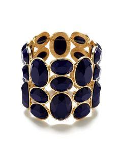 R.J. Graziano Faceted Blue Stretch Bracelet