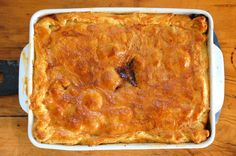 Oxtail and lamb shank pie