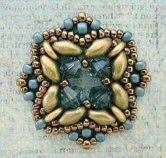 """Linda's Crafty Inspirations: Playing with my beads...trying to recreate Puca's """"Rani"""" colors"""