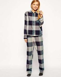 Love the ASOS Giant Check Pyjama Bottom on Wantering.