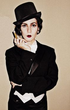 Prohibition Party makeup and costume | Dietrich inspired If not a flapper dress a tux jacket