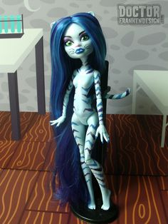Custom Monster High Doll Commission Cheshire Cat by Doctor Frankendesign www.DoctorFrankendesign.com