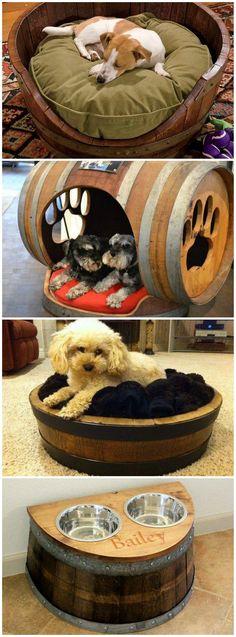 Wine Barrel Dog Beds--LOVE THE DOG HOUSE-- RP BY HAMMERSCHMID