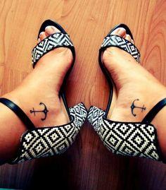 Tattoo Anker am Fuss