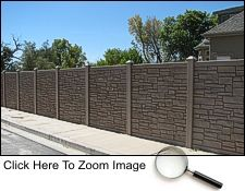 simulated stone fence granite fence simtek ecostone 240 per 6 foot section 40