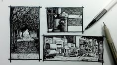 Urban Sketching & How to Draw Outdoors Pt 2 | 3 ways to frame your Scene