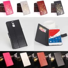 """For Pepsi P1S Case Luxury Original Leather For Pepsi P1S Cover Phone Cellphone Shell With Wallet In Stock 5.5"""" Golden Flowers"""