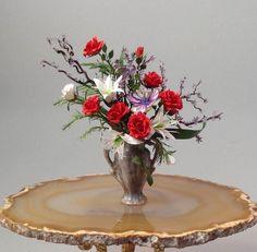 Dollhouse Miniature 1 12th Scale Flower Arrangement | eBay