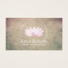 Yoga Instructor Elegant Glowing Lotus Wellness Business Card