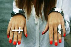 silver & orange