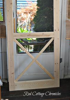 "A nice screen door really adds to curb appeal. This ""Chippendale"" wood screen door tutorial can help you build your own for a fraction of the cost of new!"