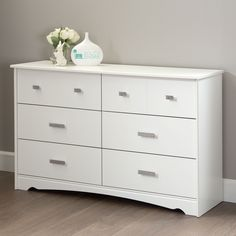 South Shore Tiara 6-Drawer Double Dresser (Tiara 6-Drawer Double Dresser in Pure White)