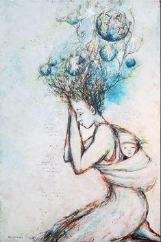 J'applique du blanc, je me procure du bien. Je désembourbe mon corps, ma tête, mon esprit. Je touche à mon âme... pure, profonde. J'applique le blanc et l'oeuvre respire... Alors, je respire.. Enfin Les Oeuvres, Paint Colors, Coloring, Applique, Painting, Sketches, Art, Just Breathe, Sketch Ideas