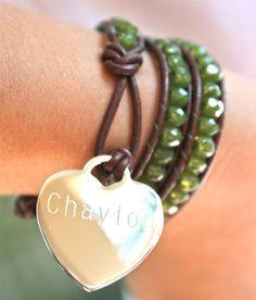 Personalized children's wrap bracelet-- customized