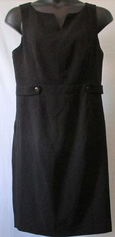 Kasper Black Button Romper Dress 16 Plus Size #Kasper #Romper