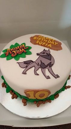 My daughter special request Animal Jam cake.