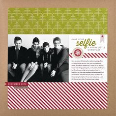 Have Your Seflie A Merry Little Christmas by Cathy Zielske #SCTMagazine #scrapbook #layout