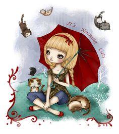 It's Raining Cats by Catarina-Guerreiro on deviantART