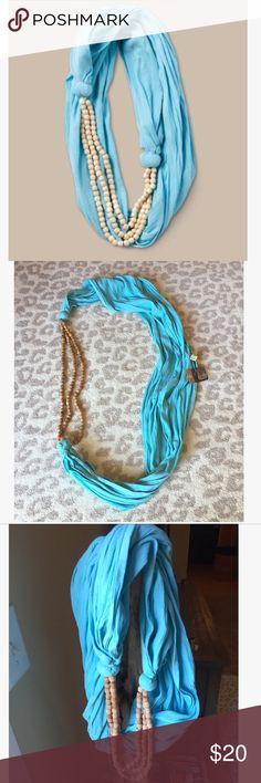 Alternative Apparel Blue Beaded Infinity Scarf New with tags , Alternative Apparel Boardwalk Blue Beaded infinity scarf! Alternative Apparel Accessories Scarves & Wraps
