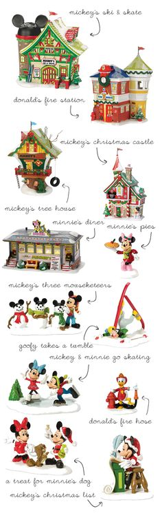 Dept 56 Disney Village!....i would love to paint something like this!!