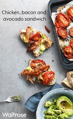 This sandwich may take slightly longer to make but it is worth the wait. Home-cooked garlicky roast chicken, crisp and salty pancetta, soft, slow-roasted tomatoes and creamy avocado make a scrumptious filling to this sourdough sandwich. For maximum flavour and deliciousness, eat while still warm. To see the full recipe, check out the Waitrose website.