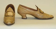 ShoesDate: 1900–1910  Culture: British  Medium: leather