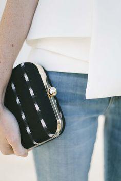 682a1776f457d8 Lauren Olivia clutch #clutchesdeguatemala Valentino Garavani, Clutch  Wallet, Leather Clutch, Evening Bags