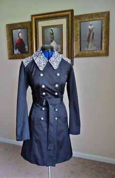 DIY Burberry Gem Embellished Trench, My Version For customising with Sewaholic's 'Robson' coat