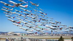 Gorgeous photos capture air traffic in a way you've never seen before. Mike Kelley, Airportraits