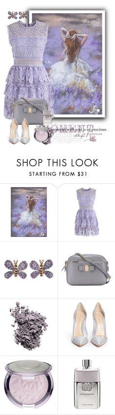 """Purple Dress"" by fatima92 ❤ liked on Polyvore featuring Chicwish, Salvatore Ferragamo, Christian Dior, Gianvito Rossi and Gucci"