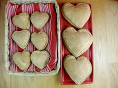 Heart-shaped whole-wheat mini calzones. Great for Valentine's Day (or any day with different shapes)!