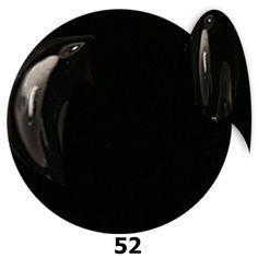 52. NTN Lakier żelowy UV - Schwarz - Czarny - 6ml