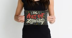 Hand Lettered Pencil Case