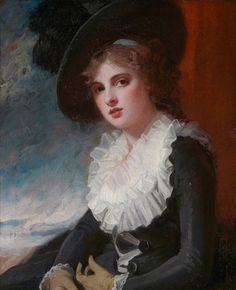 """George Romney, """"Portrait of Emma Hart, Later Lady Hamilton,"""" ca. 1784, oil on canvas. Museum of Fine Arts, Boston, promised gift of the heirs of Bettina Looram de Rothschild"""