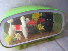 Vintage poodle shadow box