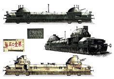 1-Zaamurets, Ejército zarista de 1916 2-OrlikVuzcis.1, Siberia, 1918 3-Tren blindado No.1O5, Manchuria del Ejército de 1931.
