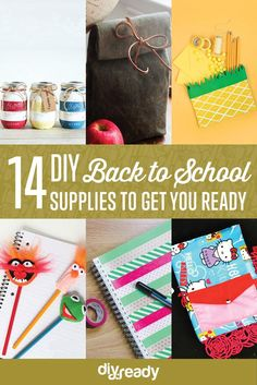 Check out 14 DIY Back to School Supplies For All Ages by DIY Ready at http://diyready.com/diy-back-to-school-supplies/