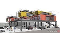 Shipping Container Restaurant, Shipping Container Design, Cargo Container Homes, Shipping Container House Plans, Container Buildings, Container Architecture, Container House Design, Container Shop, Architecture Design