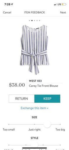 Tie Front Blouse, Stitch Fix, Ideas, Tops, Women, Style, Fashion, Swag, Moda