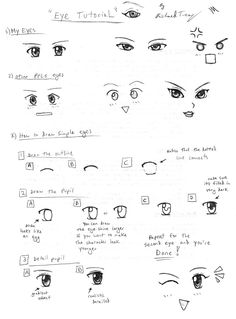Drawing Tutorial: Anime Eyes by ~gloomknight on deviantART