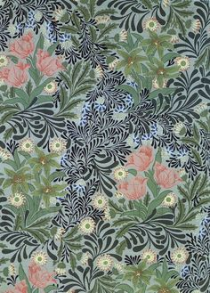 24 New Ideas Art Nouveau Design Pattern Illustration William Morris William Morris Wallpaper, William Morris Art, Morris Wallpapers, Fabric Wallpaper, Of Wallpaper, Pattern Wallpaper, Trendy Wallpaper, Art Nouveau Wallpaper, Nature Wallpaper