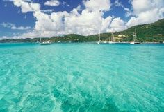 Perfect Turquoise Water Greets you in Tortola - yes, the water really does look like that...