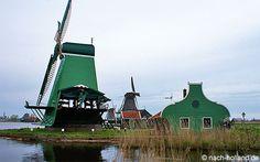 Zaanse Schans, mit dieser Windmühle wird Holz gesägt  #windmühle, #holland, #zaanseschans #windmill #dutch