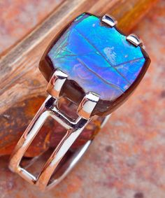 Blue Ammolite Ring ~ WoW